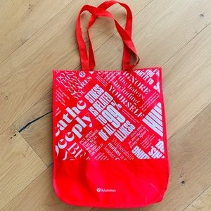 Large lululemon reusable shopping bag